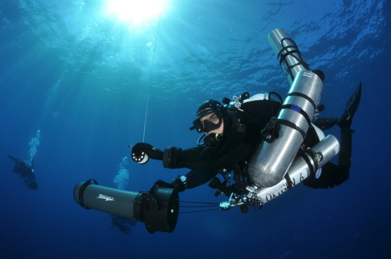 Gue technical diving courses portofino divers for Dive system tech fin